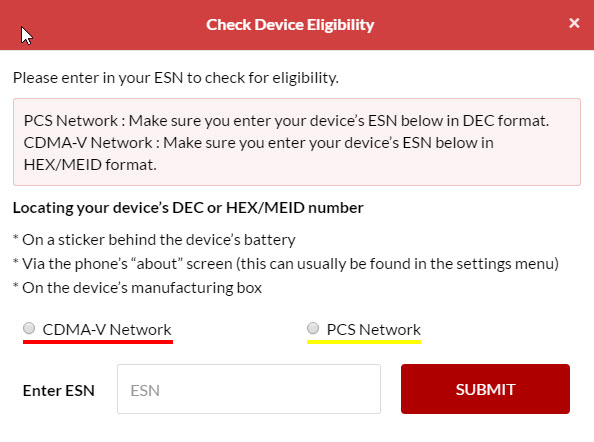 Best Cellular Device Eligibility Tool