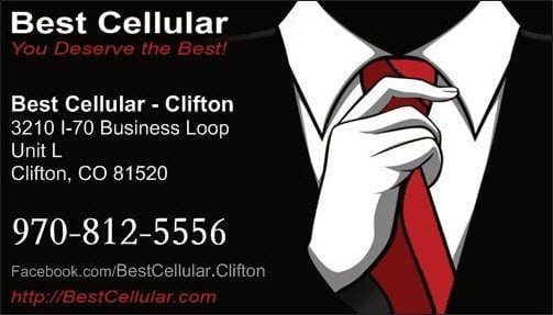 Front example: Best Cellular Business Cards