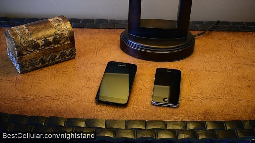 Can a phone crack while laying on the nightstand?