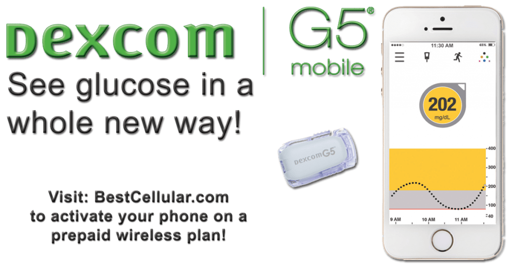 Dexcom G5 GCM Phone Plans