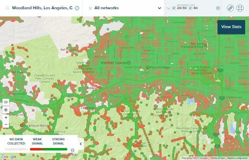 Who has the Best Cellular Coverage in Woodland Hills and Simi-Valley CA?