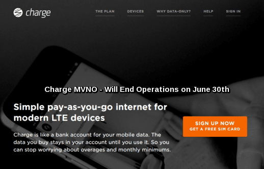 Charge Sprint MVNO Will End Operations on June 30th
