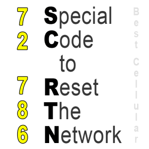 Sprint Network Reset with SCRTN Code